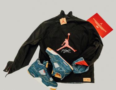 2018年1月20日(水) リーバイス x ナイキ エアジョーダン4 レトロ 発売(Levi's x Nike Air Jordan 4 Retro、AO2571-401)