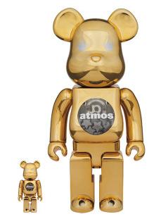 2018年2月10日(土)12時 ベアブリック アトモス ゴールド クローム 100% & 400% 発売(BE@RBRICK atmos GOLD CHROME)