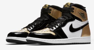 """2018年3月10日(土) ナイキ エアジョーダン """"ゴールドトゥ"""" 発売(Nike Air Jordan 1 """"Gold Toe""""、AQ7474-001)"""