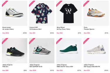 2019年1月29日(火) 海外セレクトショップ大手「sneakersnstuff」最大70%OFF SALE!