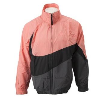 2019年4月 ナイキウェア ウーブン ジャケット ピンク/グレー 発売(Nike)