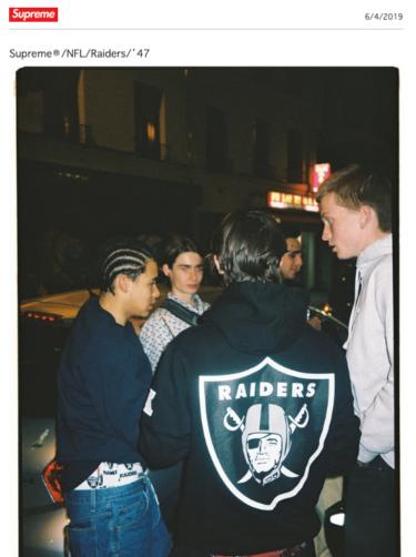 2019年6月8日(土)11時 シュプリーム x NFL レイダース '47 発売(Supreme x NFL Raiders '47)