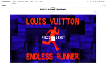 2019年7月 ルイ・ヴィトン オンラインゲーム「ENDLESS RUNNER」提供開始