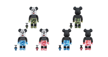 2019年11月2日(土)12時 BE@RBRICK BAPE(R) MICKEY MOUSE 100% & 400 / 1000% 発売