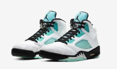 """2019年11月11日(月)9時 ナイキ エアジョーダン 5 """"アイスランドグリーン""""(Nike Air Jordan 5 Retro """"Island Green"""")発売"""