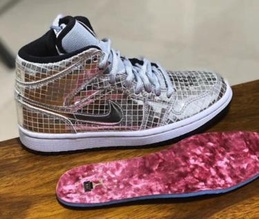 """2020年初頭 ナイキ エアジョーダン 1 """"ディスコボール""""(Nike Air Jordan 1 Mid """"Disco Ball"""")発売か?"""