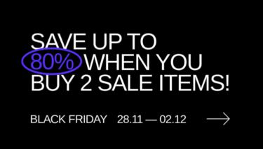 2019年12月 Sneakersnstuff ブラックフライデーセール開催(2つ購入すると更に25%オフ)