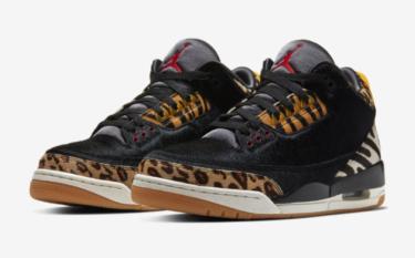 2019年12月19日(木) ナイキ エアジョーダン3 アニマルパック(Nike Air Jordan 3 Animal Pack)発売