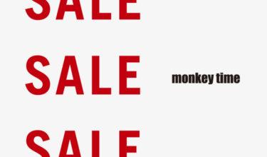 2020年1月1日(水)0時 モンキータイム 2019年秋冬セール(monkey time 2019 AUTUMN&WINTER SALE)開催